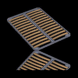 Рамка R100 двухместная б/к рейл, шпл Image